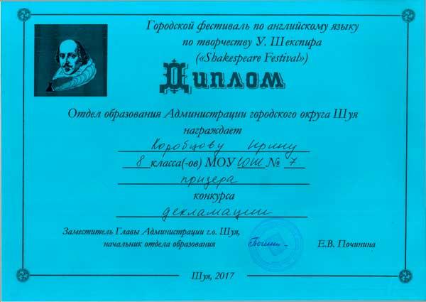 Korobcova Irina Shekspir